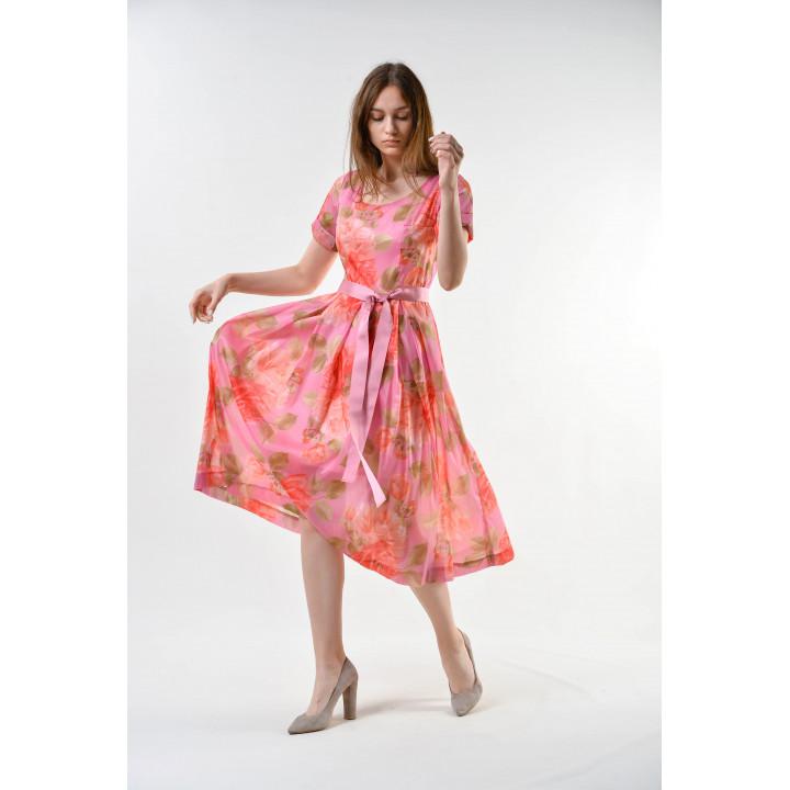 Платье «Валери» розового цвета