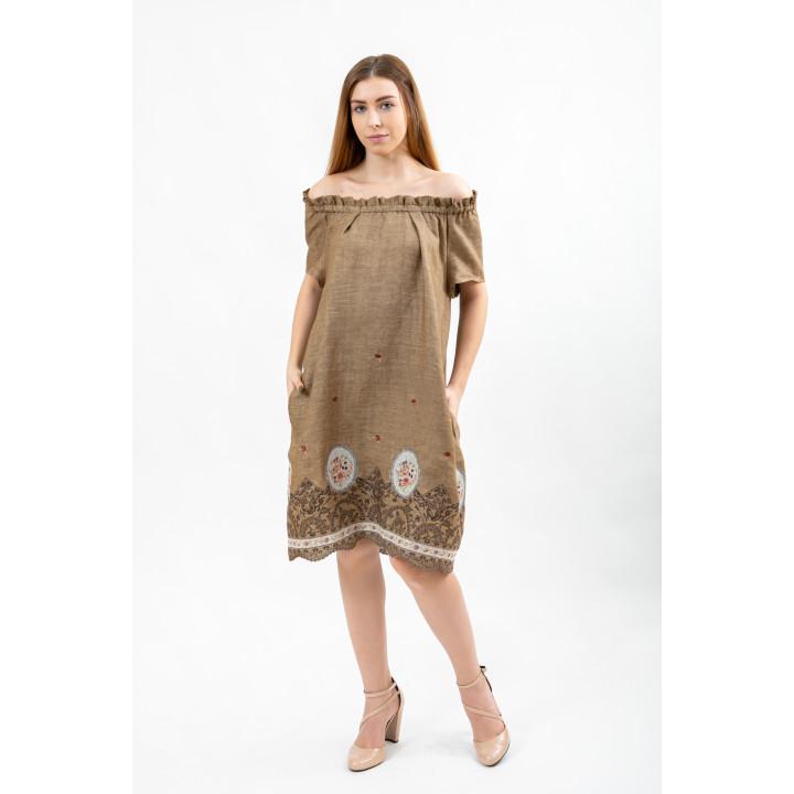 Платье «Аделаида» с вышивкой