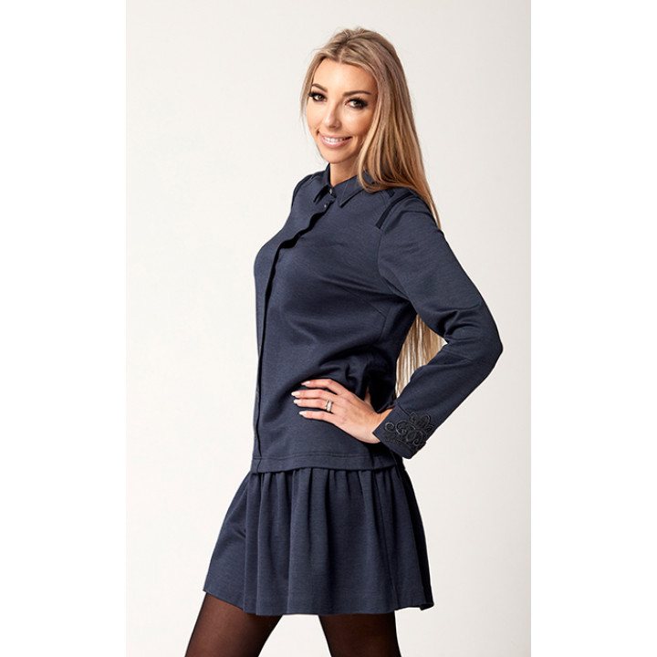 Платье «Грация» темно-синего цвета
