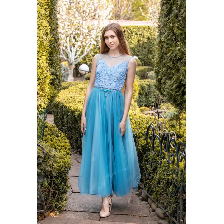 """Платье """"Верения-1"""" голубого цвета"""