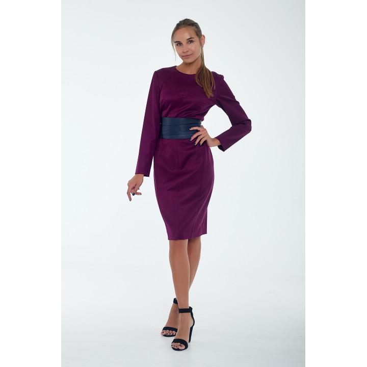 Платье «Кристи» бордового цвета
