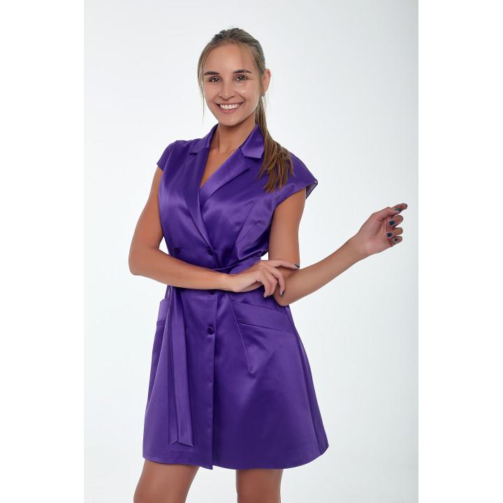 Платье-жилет «Хелен» фиолетового цвета