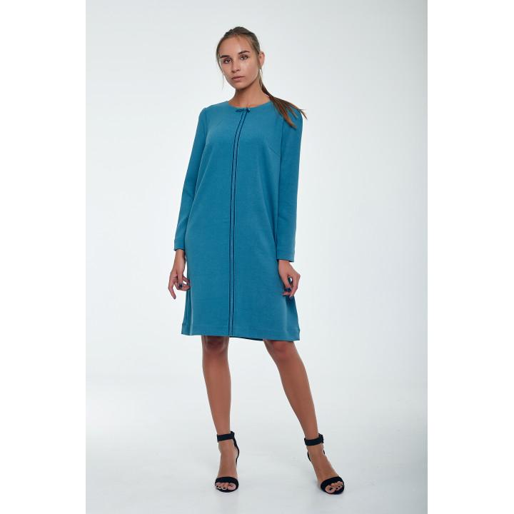 Платье «Шелли-1»  темно-голубого цвета