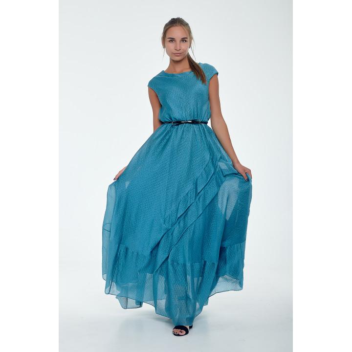 Платье «Вернисаж» цвет морской волны