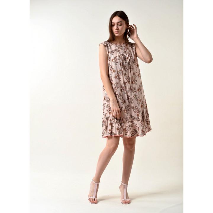 Платье «Арлекино-2» бежевого цвета