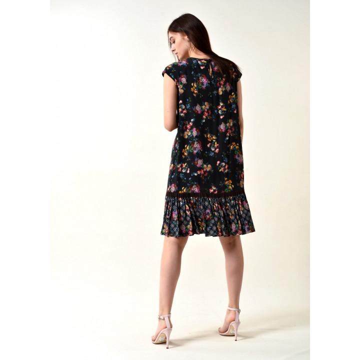 Платье «Арлекино» черного цвета
