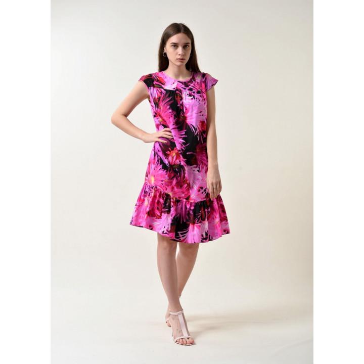 Платье «Арлекино» цвета фуксии