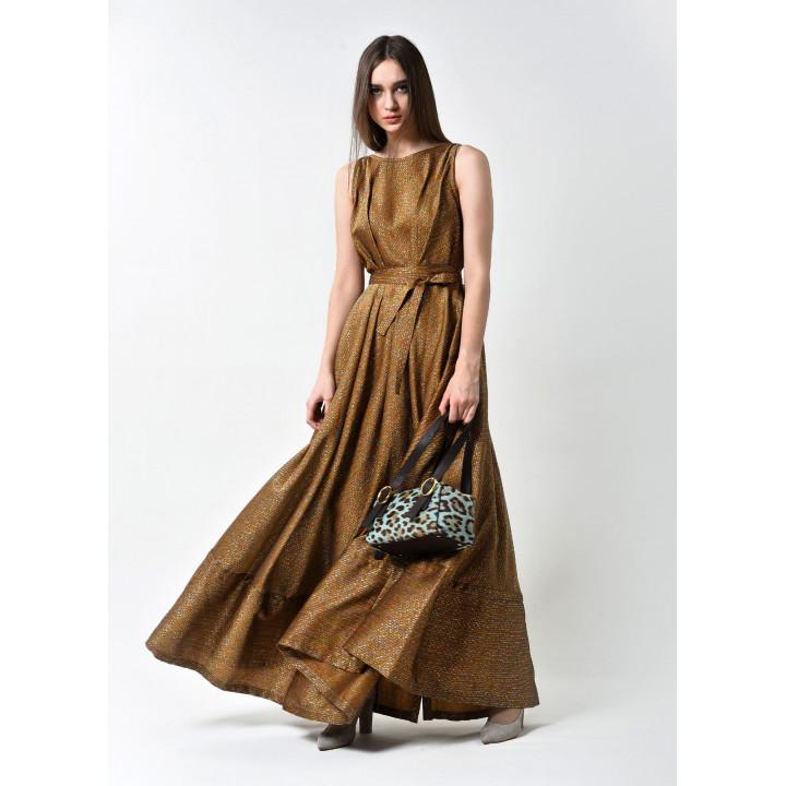 Платье «Бриана» коричневого цвета