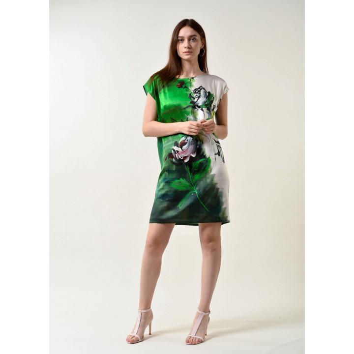 Платье «Елена»  зеленого цвета