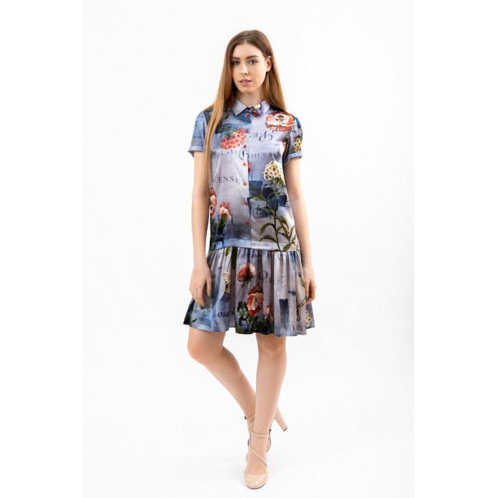 Платье «Грация» авторский принт
