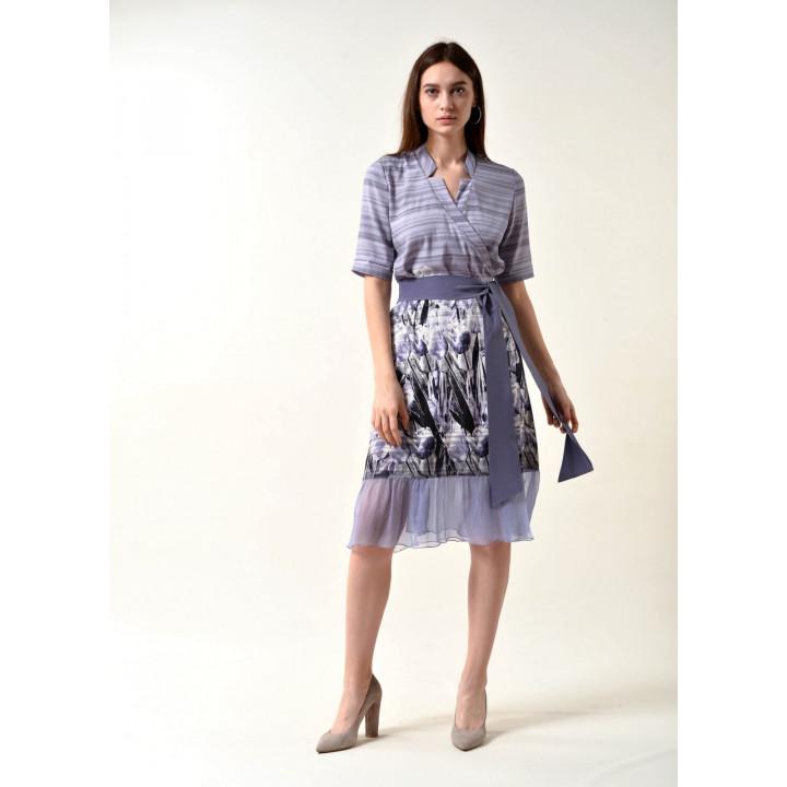 Платье «Лидия» сиреневого цвета