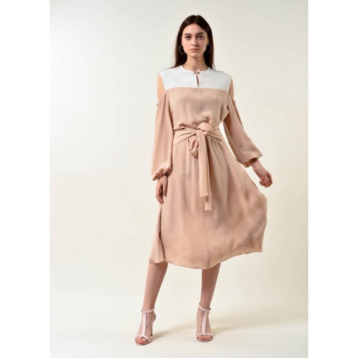 Платье «Миа» бежевого цвета