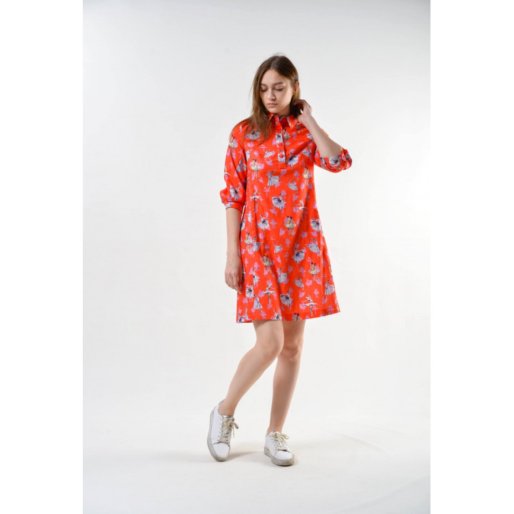 Платье «Павия» персикового цвета