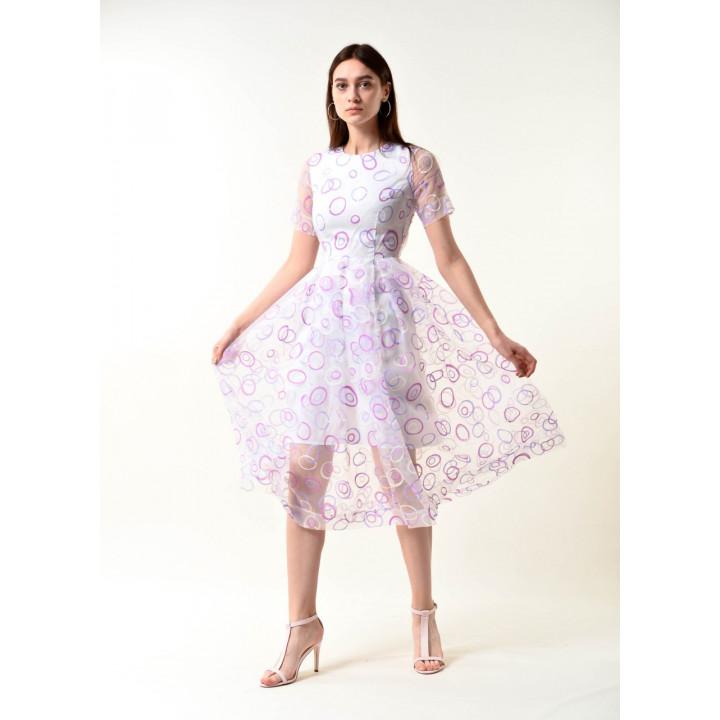 Платье «Валери» в геометрический принт