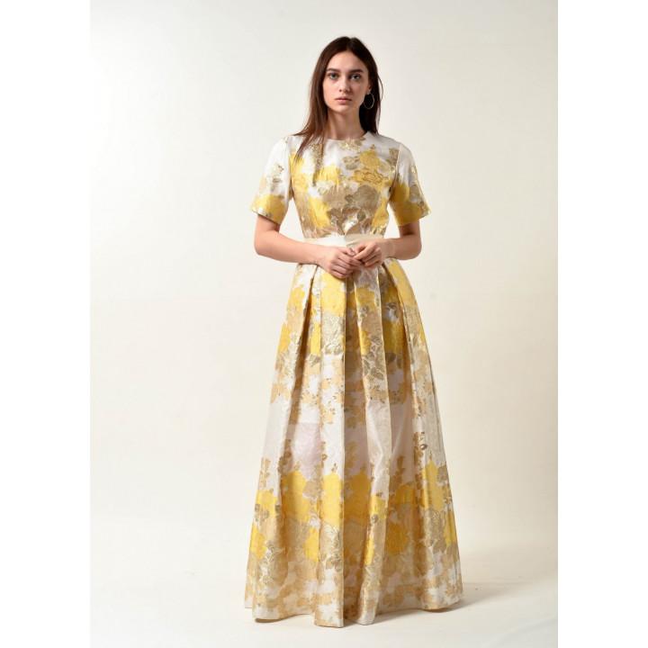 Платье «Валери» золотистого цвета