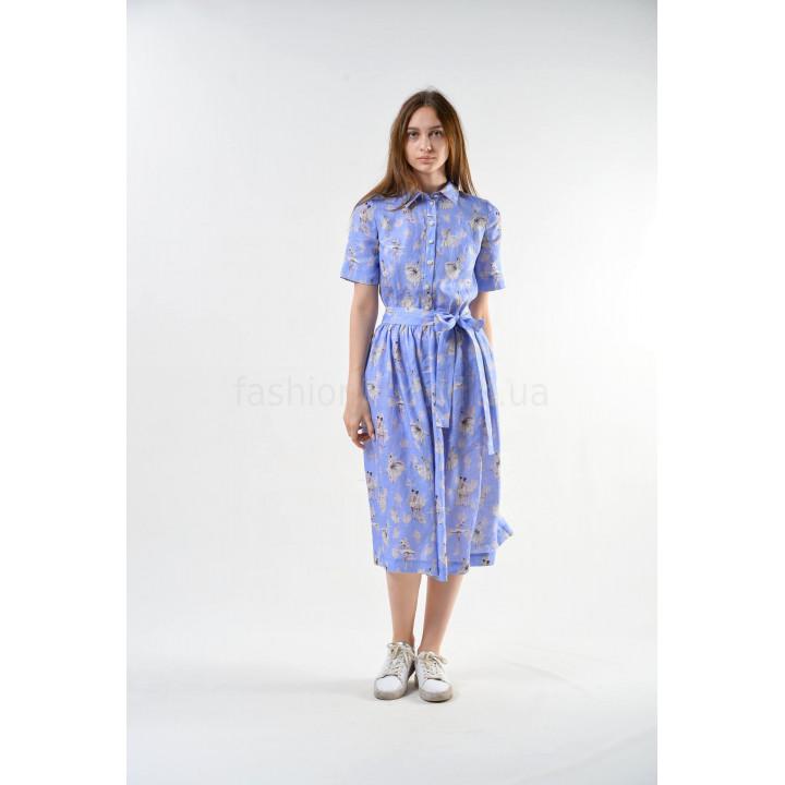 Платье «Мишель-1» голубого цвета