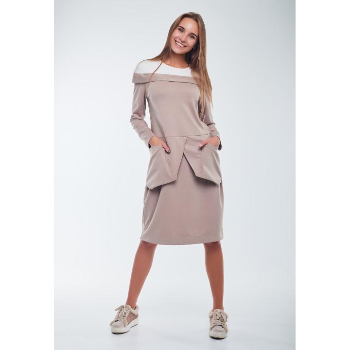 Платье «Тория» бежевого цвета