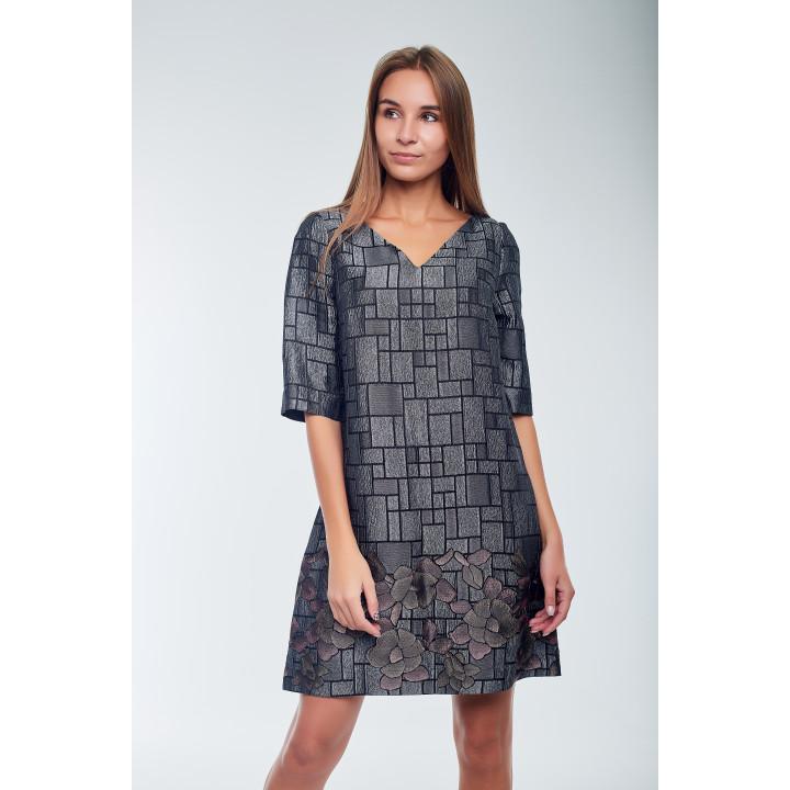 Платье «Тифани» темно-серого цвета