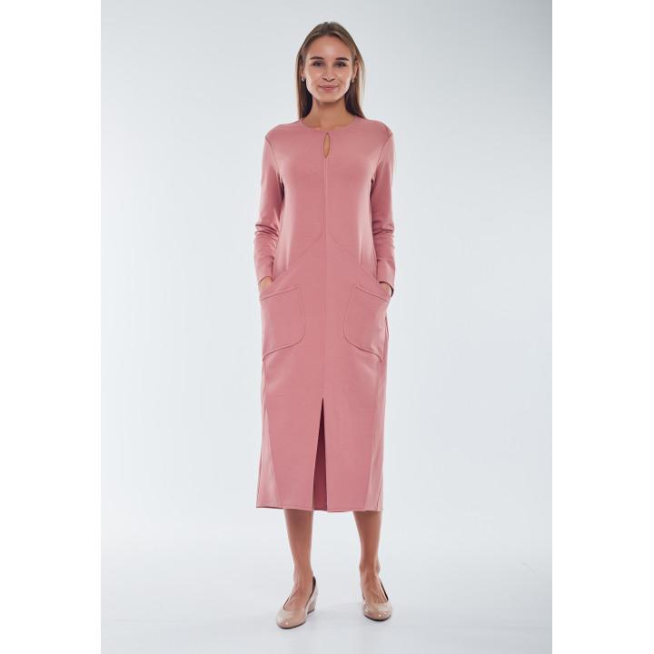 Платье «Талиша» пудрового цвета