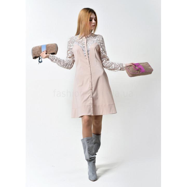 Платье «Юнона» пудрового цвета