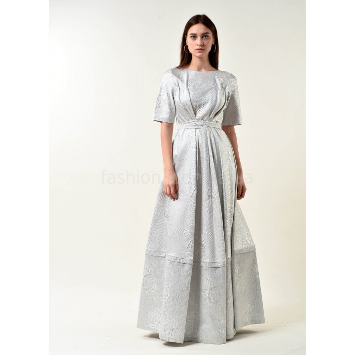 Платье «Бриана-2» серебристого цвета