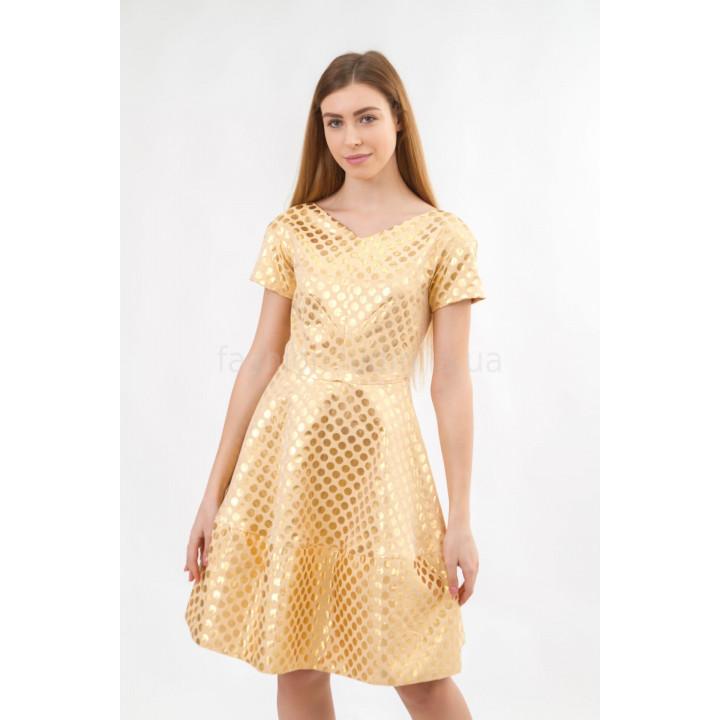 Платье «Кари» желтого цвета