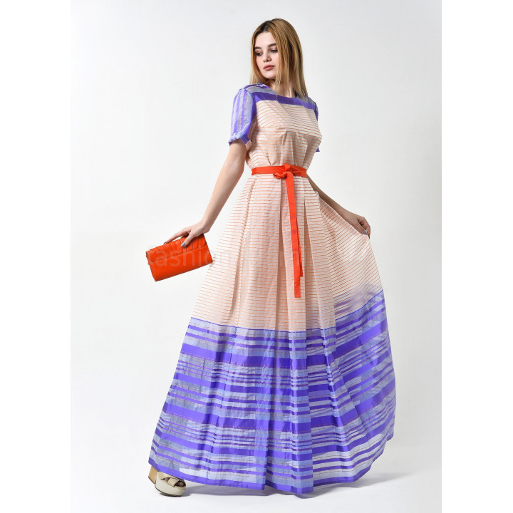 Платье «Виктория» персиково-лилового цвета