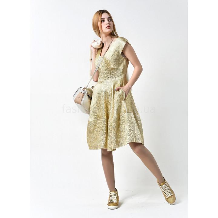Платье «Сальва» золотистого цвета