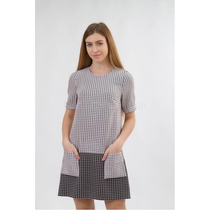 Платье «Эббиль-5» лилового цвета в клетку