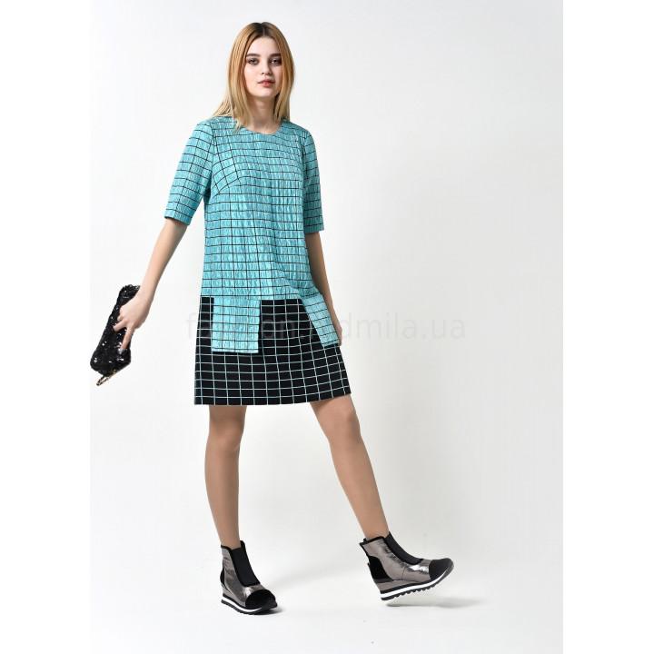 Платье «Эббиль-5» бирюзового цвета