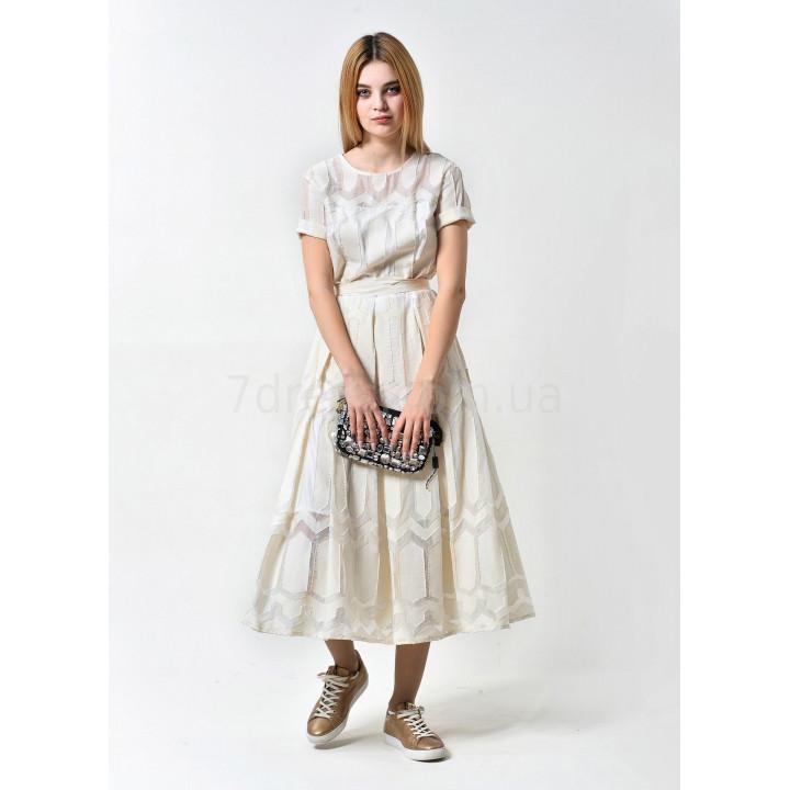 Платье «Валери» молочного цвета