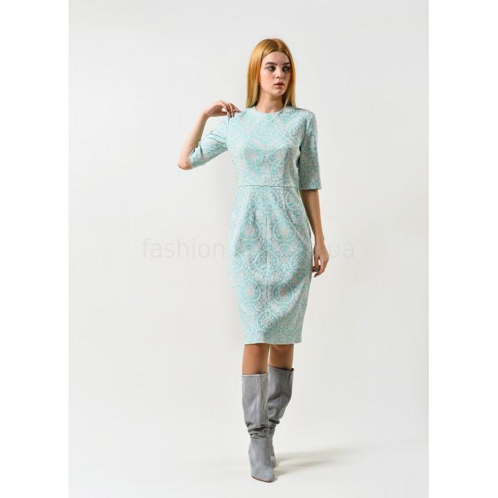 Платье «Прато» бирюзового цвета