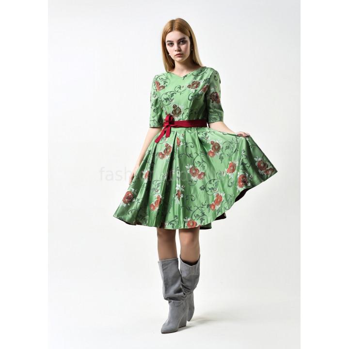 Платье «Айрин» зеленого цвета