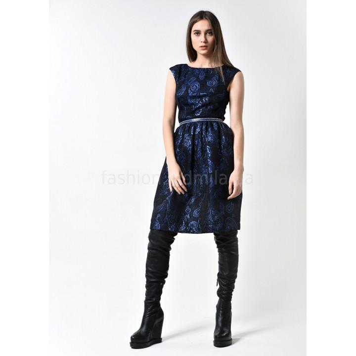 Платье «Верушка» черно-синего цвета