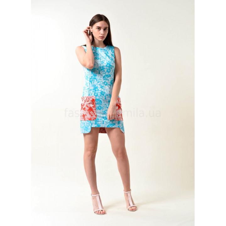 Платье «Габриэль-2» голубого цвета