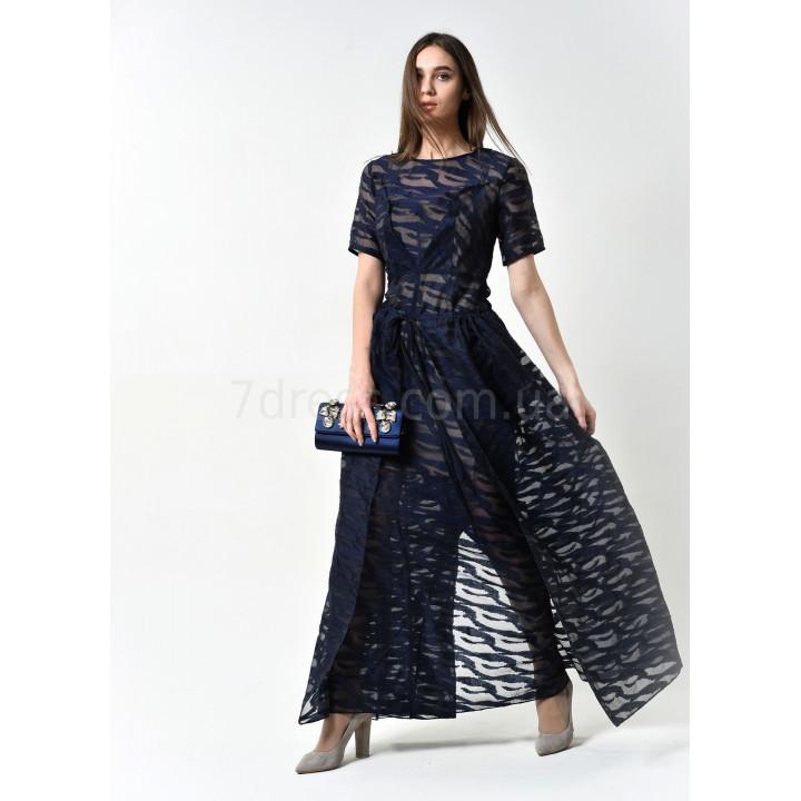 Платье «Стефани» темно-синего цвета