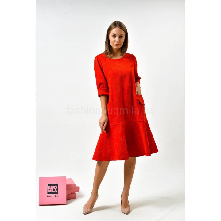 Платье «Мегги» красного цвета