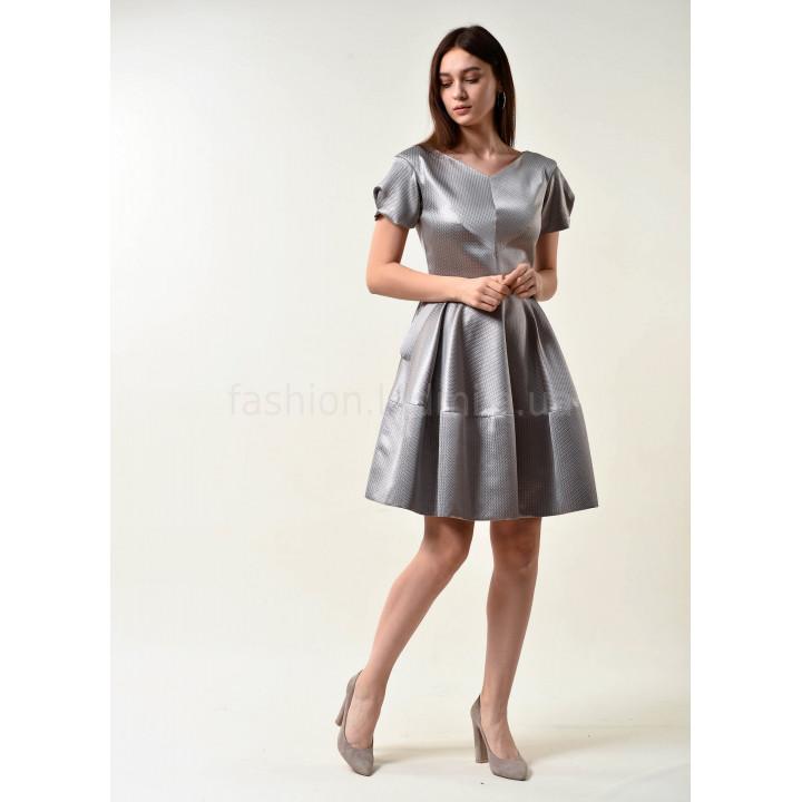 Платье «Кари» серебристого цвета