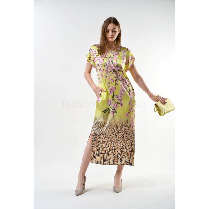 Платье «Елена-3» салатового цвета