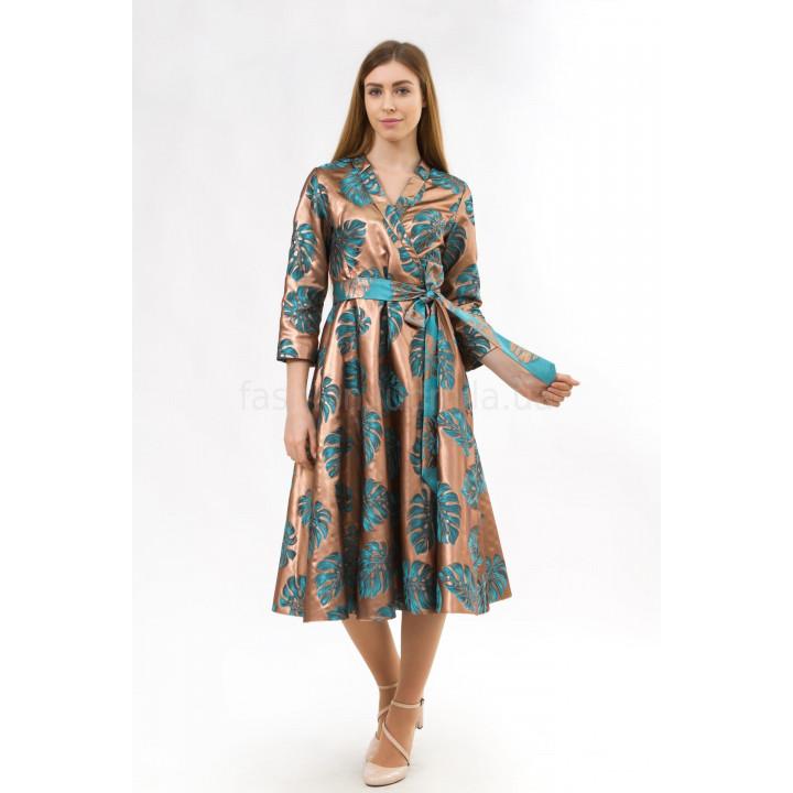 Платье «Джоан» бронзового цвета