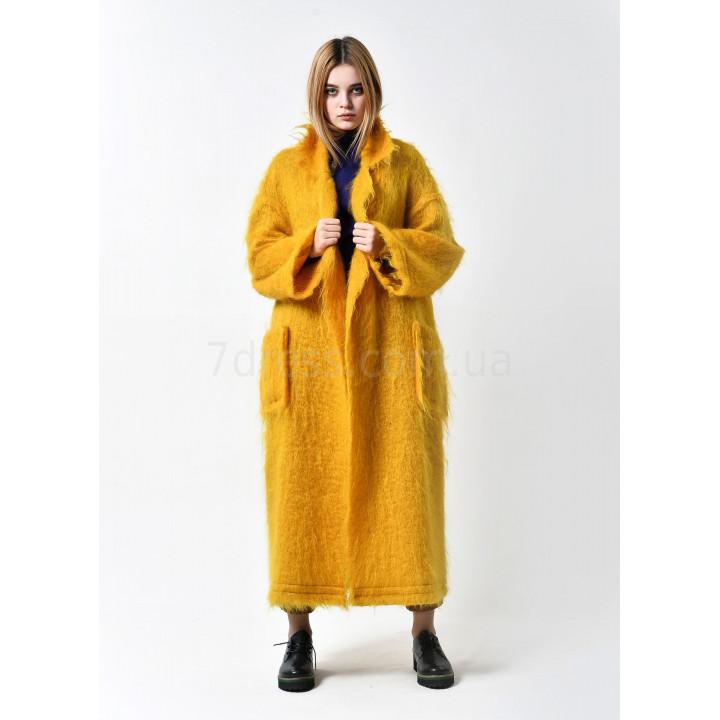 """Пальто """"Марианна"""" горчичного цвета"""