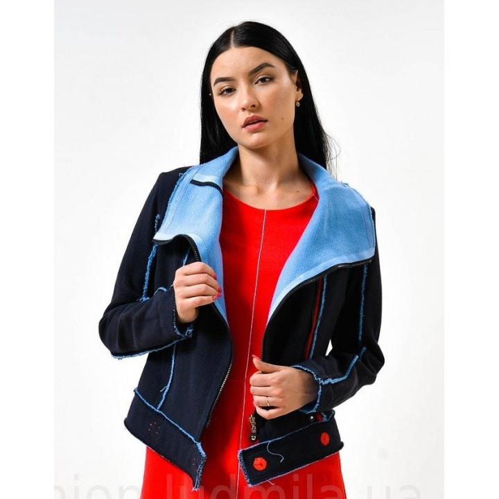 """Куртка """"Вида"""" сине-голубого цвета"""