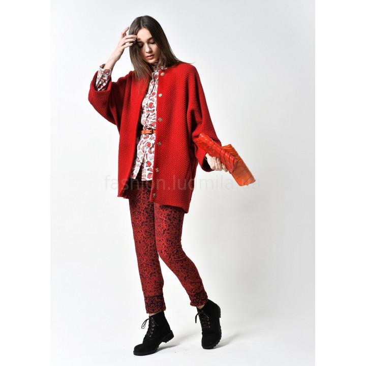 """Куртка """"Алаиз"""" красного цвета"""