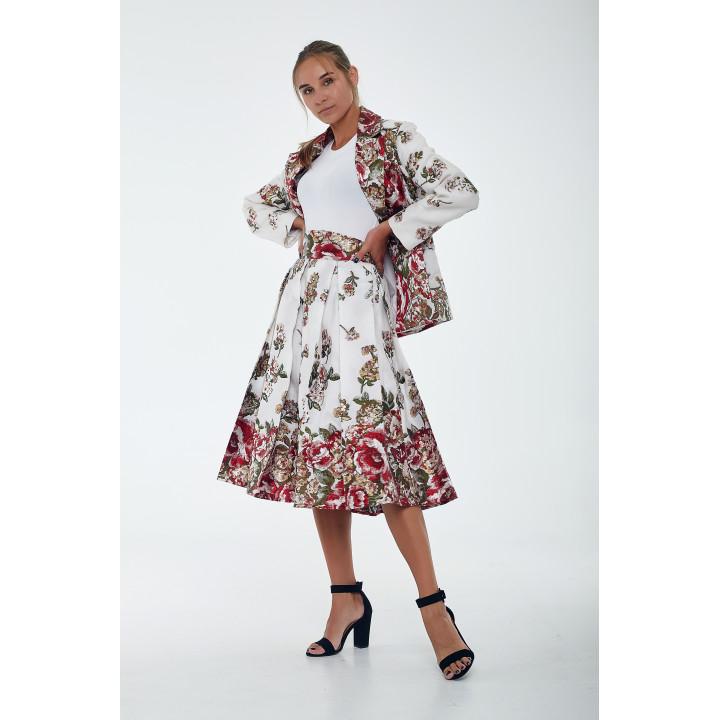 Юбка «Любляна» в цветочный принт