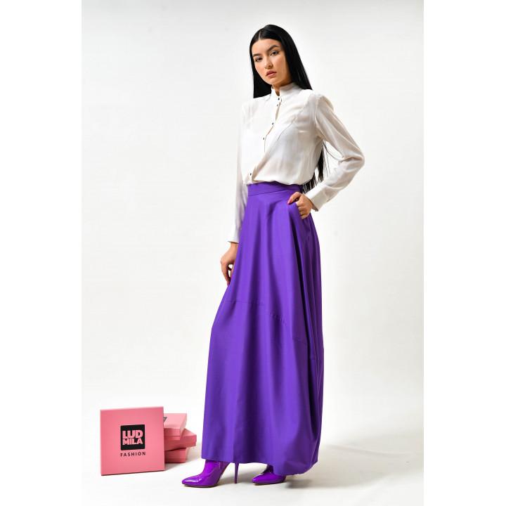 Юбка «Делла» фиолетового цвета