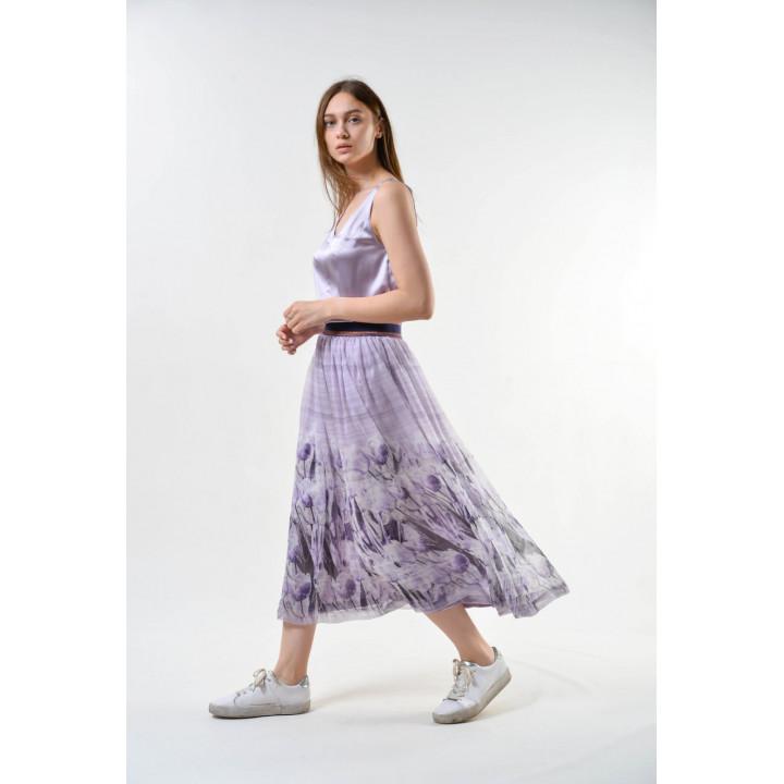 Юбка «Карэн» лилового цвета